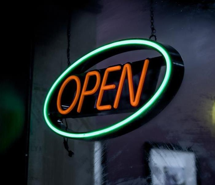 "Business neon ""Open"" sign"