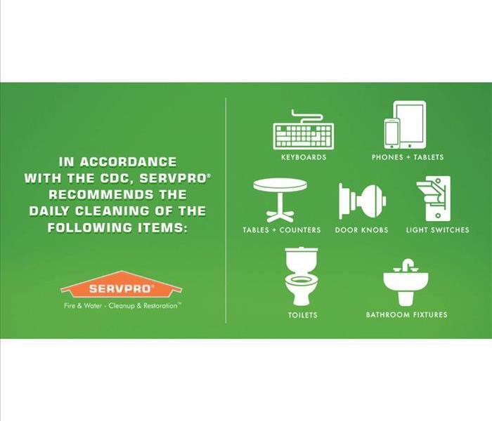 Servpro CDC infographic